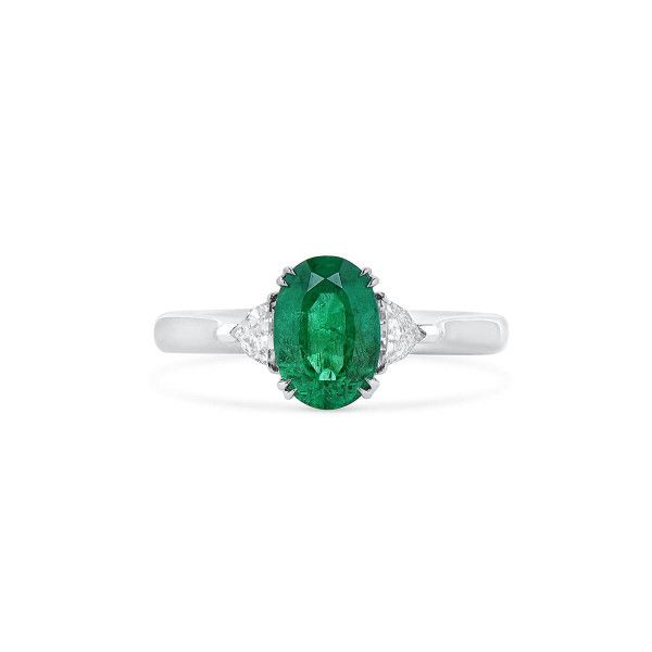 Natural Vivid Green Emerald Ring, 1.58 Ct. (1.82 Ct. TW), GRC Certified, G2007170038