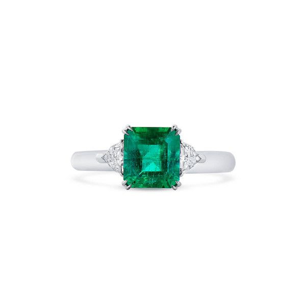 Natural Vivid Green Emerald Ring, 1.78 Ct. (2.03 Ct. TW), GRC Certified, G2007170039
