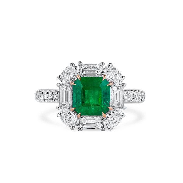 Natural Vivid Green Emerald Ring, 1.91 Ct. (3.29 Ct. TW), GRC Certified, G2007170037