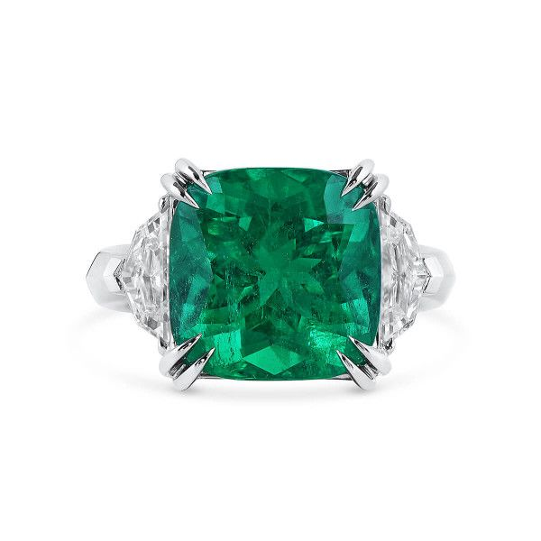 Natural Vivid Green Emerald Ring, 8.23 Ct. (9.34 Ct. TW), GRS Certified, GRS2019-069269