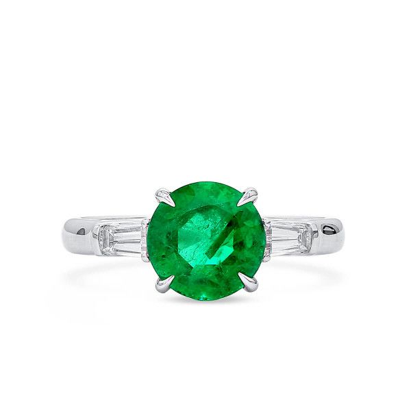 Natural Green Emerald Ring, 2.05 Ct. (2.38 Ct. TW), GRS Certified, GRS2020-098739