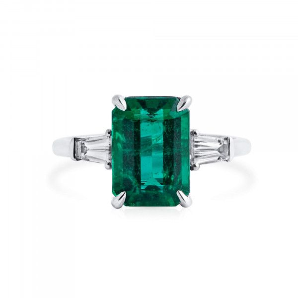 Natural Green Emerald Ring, 3.20 Ct. (3.67 Ct. TW), GRS Certified, GRS2021-068042
