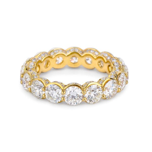 White Diamond Ring, 4.94 Ct. (5.44 Ct. TW), Round shape, EG_Lab Certified, J5826063030