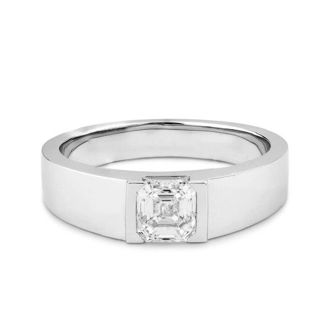 White Diamond Ring, 1.06 Carat, Asscher shape, GIA Certified, 7262340628