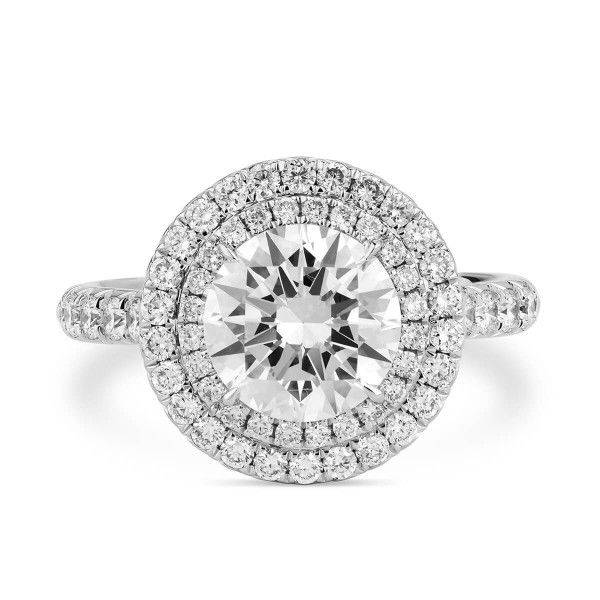 White Diamond Ring, 1.82 Ct. (2.52 Ct. TW), Round shape, GIA Certified, 2183670686