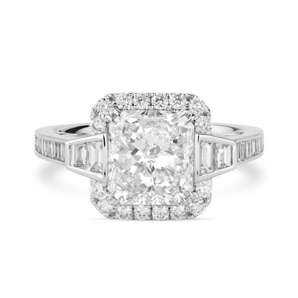 White Diamond Ring, 2.86 Ct. TW, Radiant shape, GIA Certified, 2195216546