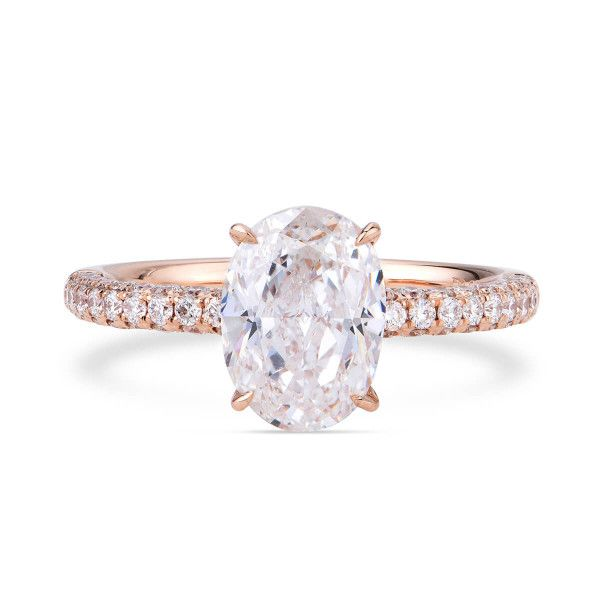 White Diamond Ring, 2.01 Ct. (2.45 Ct. TW), Oval shape, GIA Certified, 7256680557