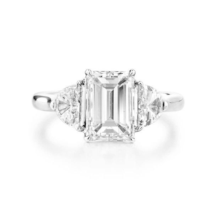 White Diamond Ring, 2.01 Ct. (2.56 Ct. TW), Emerald shape, GIA Certified, 5182503267