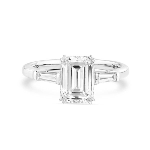 White Diamond Ring, 1.62 Ct. (1.86 Ct. TW), Emerald shape, GIA Certified, 2181828981