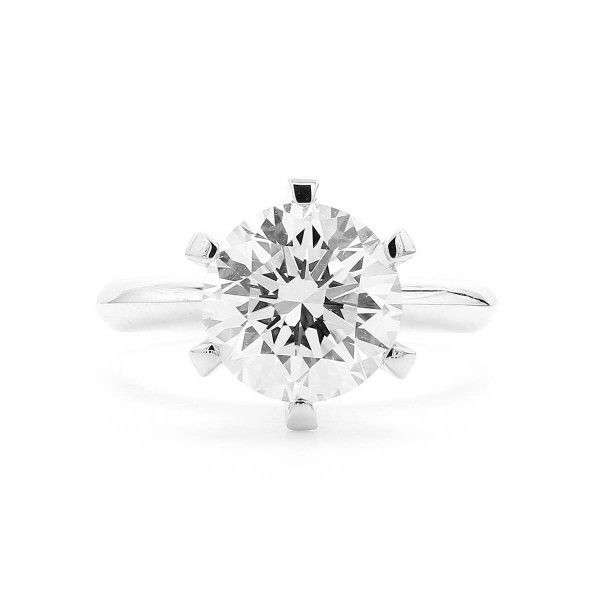 White Diamond Ring, 3.02 Carat, Round shape, EGL IL Certified, EGLOO101071176