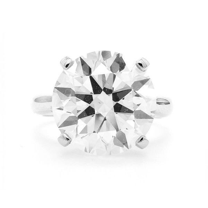 White Diamond Ring, 11.05 Carat, Round shape, GIA Certified, 5191626007