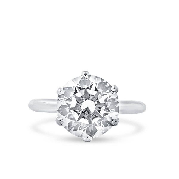 White Diamond Ring, 5.07 Carat, Round shape, HRD Certified, 180000160359