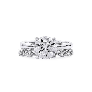 White Diamond Ring, 2.02 Ct. (2.16 Ct. TW), Round shape, GIA Certified, 6315851408
