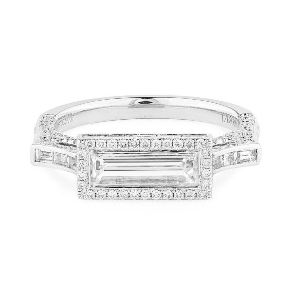 White Diamond Ring, 0.80 Ct. (1.73 Ct. TW), Baguette shape, GIA Certified, 1317361321