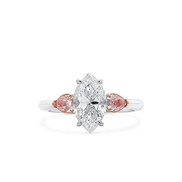 White Diamond Ring, 2.04 Ct. (2.58 Ct. TW), Marquise shape, GIA Certified, 2193852770