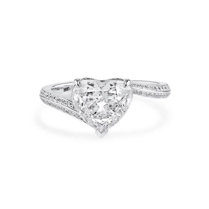 White Diamond Ring, 2.02 Ct. (2.27 Ct. TW), Heart shape, GIA Certified, 3175340597