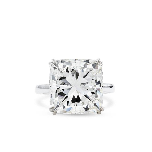 White Diamond Ring, 10.04 Carat, Cushion shape, GIA Certified, 2201320632