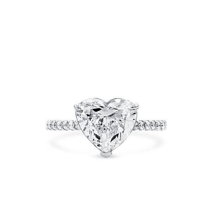 White Diamond Ring, 3.01 Ct. (3.25 Ct. TW), Heart shape, GIA Certified, 7271400853