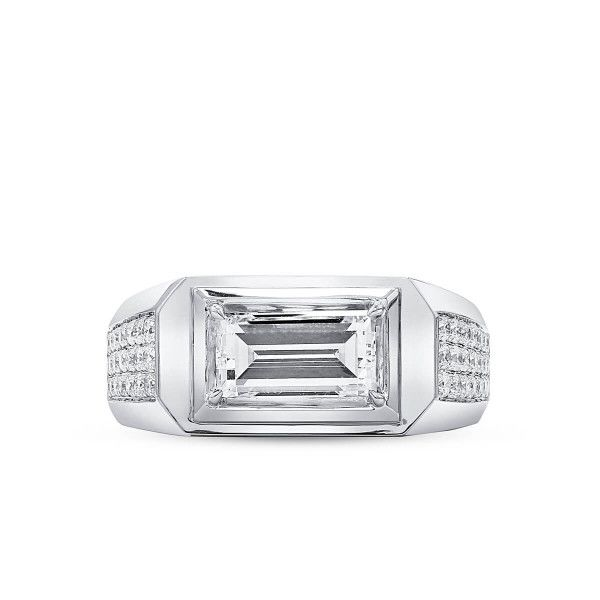 White Diamond Ring, 1.61 Ct. (2.16 Ct. TW), Radiant shape, GIA Certified, 1337014604