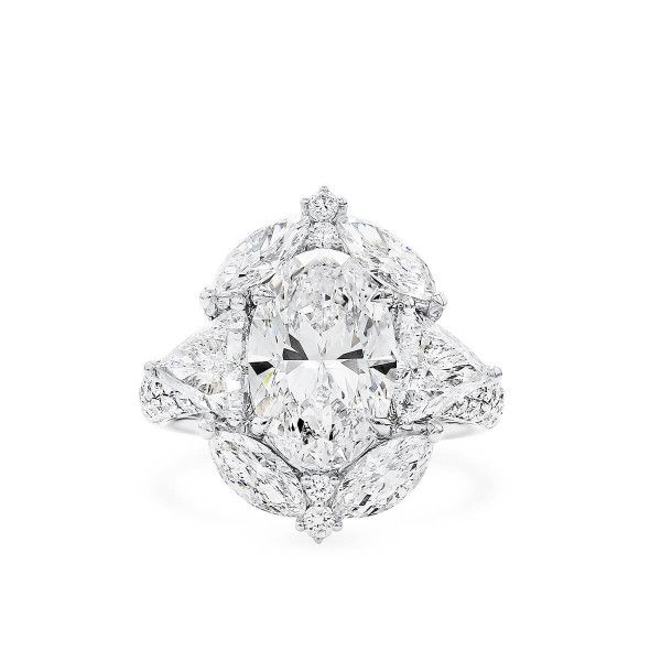 White Diamond Ring, 3.01 Ct. (6.13 Ct. TW), Oval shape, GIA Certified, 1337680606