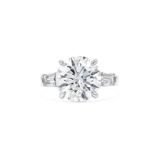 White Diamond Ring, 5.26 Ct. (5.93 Ct. TW), Round shape, GIA Certified, 2205719156