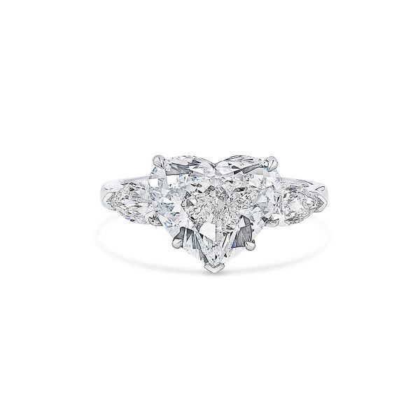 White Diamond Ring, 5.01 Ct. (5.76 Ct. TW), Heart shape, GIA Certified, 6311339205