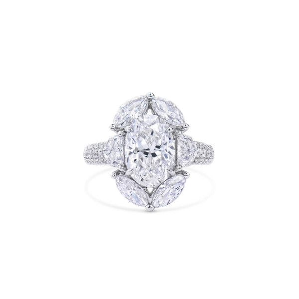 White Diamond Ring, 3.01 Ct. (5.15 Ct. TW), Oval shape, GIA Certified, 1146810358