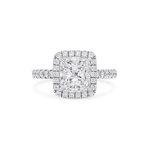 White Diamond Ring, 2.02 Ct. (2.86 Ct. TW), Cushion shape, GIA Certified, 1349206219