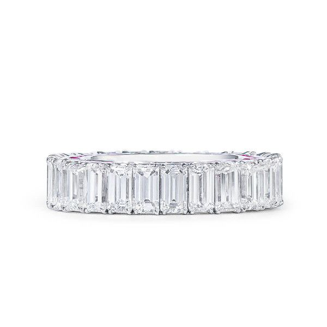 White Diamond Ring, 6.74 Ct. (8.86 Ct. TW), Emerald shape, MA Certified, DA104822