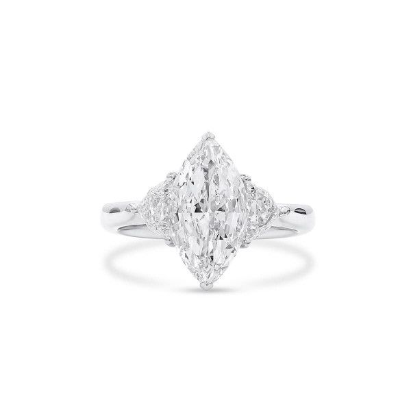 White Diamond Ring, 2.01 Ct. (2.60 Ct. TW), Marquise shape, GIA Certified, 6355330878