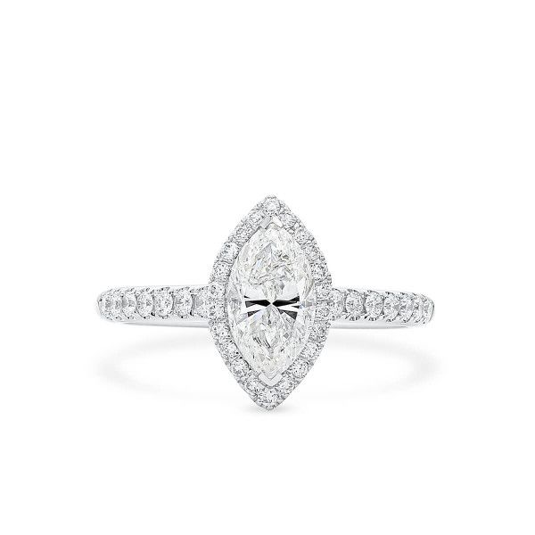 White Diamond Ring, 1.02 Ct. (1.31 Ct. TW), Marquise shape, IGL Certified, 6834198