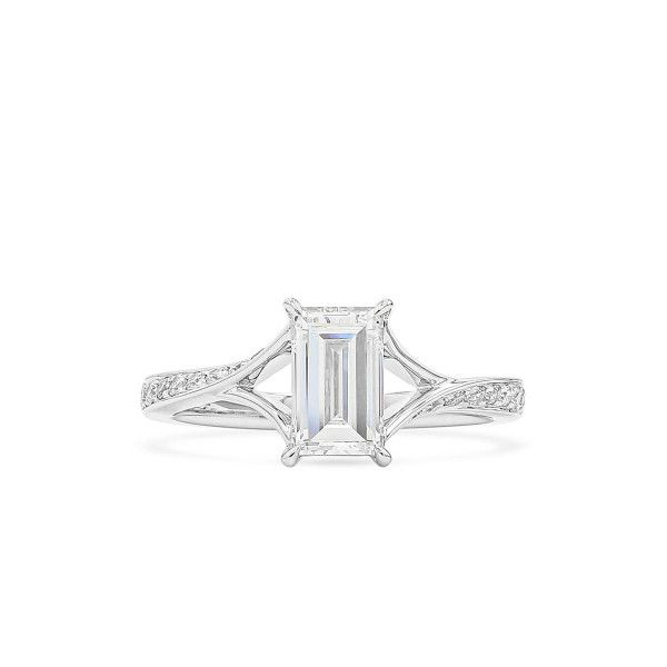 White Diamond Ring, 1.01 Ct. (1.17 Ct. TW), Baguette shape, GIA Certified, 6352550566