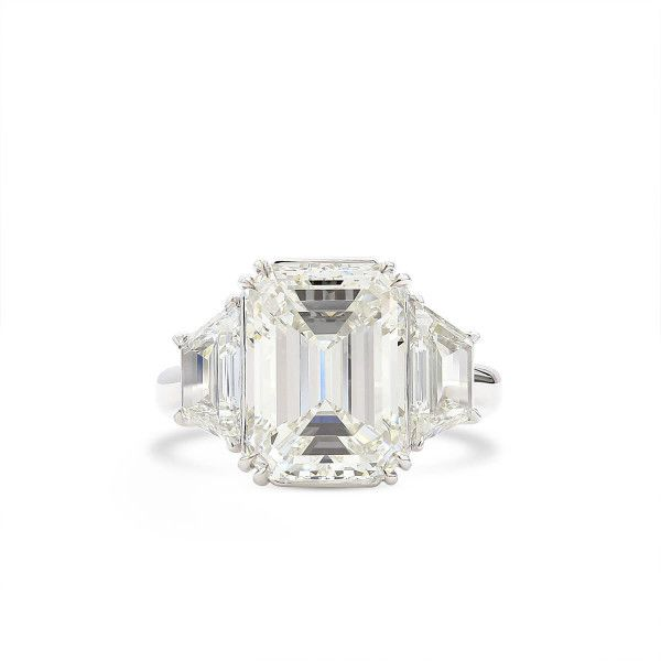 White Diamond Ring, 6.07 Ct. (7.49 Ct. TW), Emerald shape, GIA Certified, 2215174201