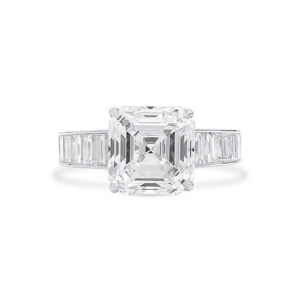 White Diamond Ring, 5.01 Ct. (7.11 Ct. TW), Asscher shape, GIA Certified, 2205204353