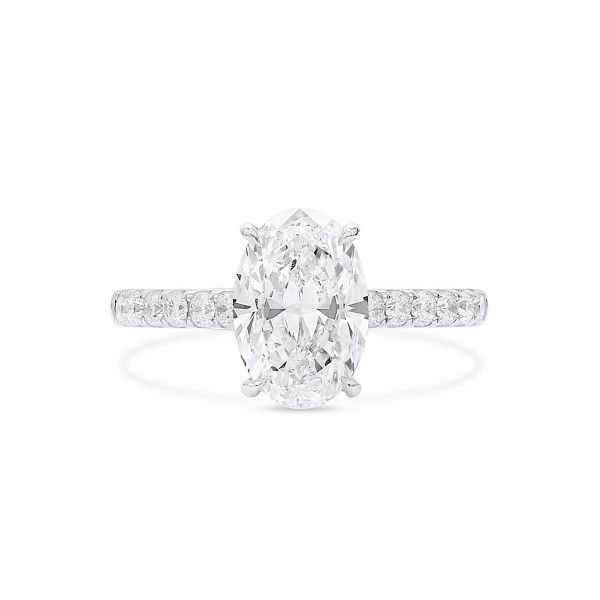 White Diamond Ring, 2.02 Ct. (2.49 Ct. TW), Oval shape, GIA Certified, 1358001840