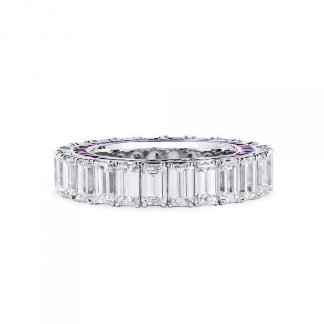 White Diamond Ring, 7.39 Ct. (10.15 Ct. TW), Emerald shape
