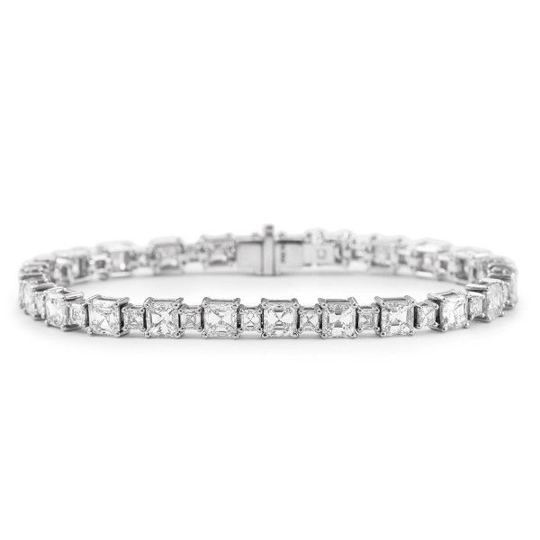 White Diamond Bracelet, 14.50 Ct. TW, Emerald shape, EG_Lab Certified, J5726137334