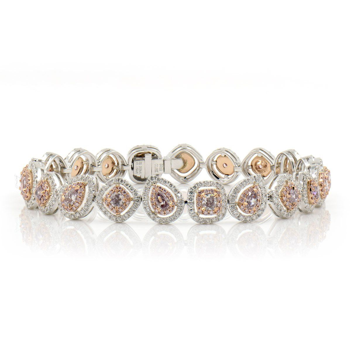 silver and tennis in sterling pink zirconia platinum crislu white cubic bracelet diamond with finish