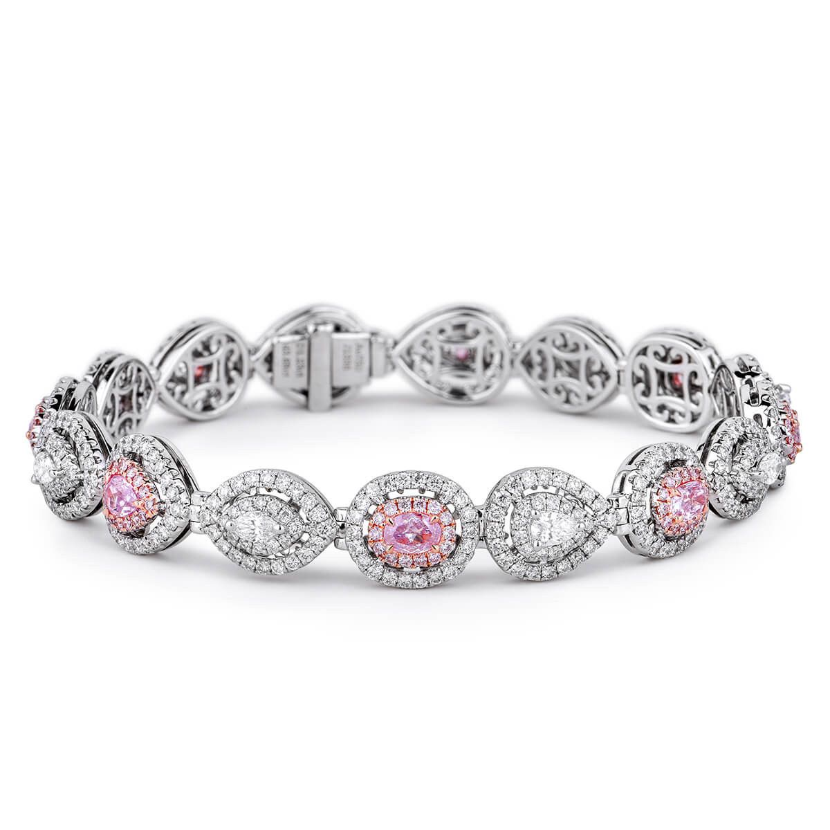 topaz and jewelry bracelets diamond gold oval pink bracelet yellow