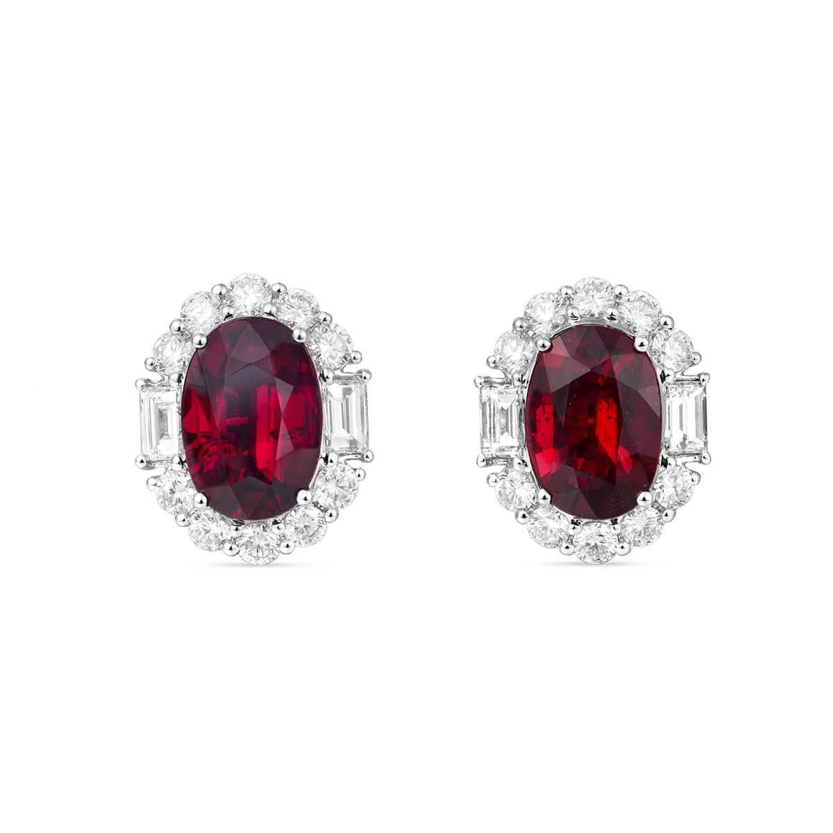 Natural Red Ruby Earrings 10 19 Ct Tw Grs Certified Jceg05415740 Unheated