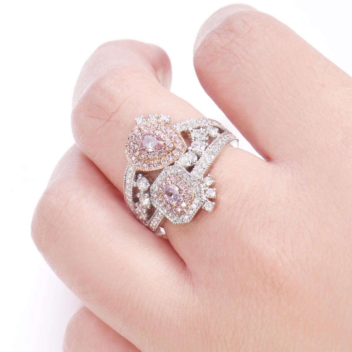 Fancy Purplish Pink Diamond Ring, 1.43 carat, I1 Clarity, GIA 2185475380