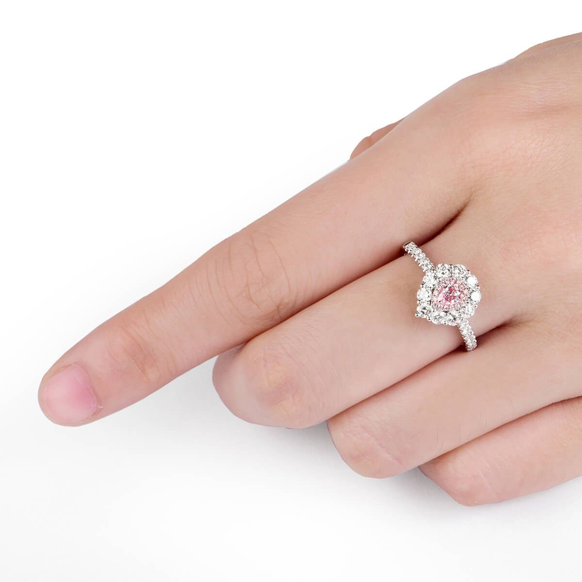 Fancy Pink Diamond Ring, 0.93 carat, SI2 Clarity, GIA 1186341910