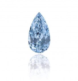 1.28 Carat, Fancy Blue Diamond, Pear shape, IF Clarity, GIA Certified, 2115520469