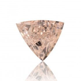 0.81 Carat, Fancy Light Orangy Pink Diamond, Triangle shape, SI1 Clarity, GIA Certified, 15281496