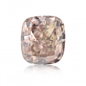 0.75 Carat, Fancy Pinkish Brown Diamond, Cushion shape, I1 Clarity, GIA Certified, 6201478954