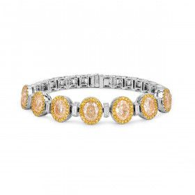Fancy Yellow Diamond Bracelet, 7.08 Ct. (11.40 Ct. TW), Oval shape, EG_Lab Certified, J5826182335