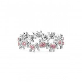 Fancy Light Pink Diamond Bracelet, 2.05 Ct. (6.03 Ct. TW), Pear shape, GIA Certified, JCBF05409126