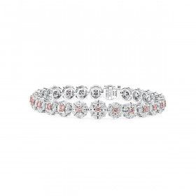 Fancy Pink Diamond Bracelet, 1.34 Ct. (10.83 Ct. TW), Round shape, EG_Lab Certified, J6026102118