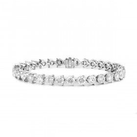 White Diamond Bracelet, 10.71 Carat, Round shape, EG_Lab Certified, J5826277744