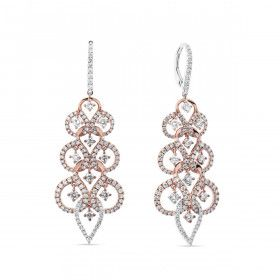 Fancy Pink Diamond Earrings, 0.88 Ct. (2.39 Ct. TW), Round shape, EG_Lab Certified, J5726220125
